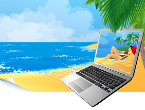 beach laptop